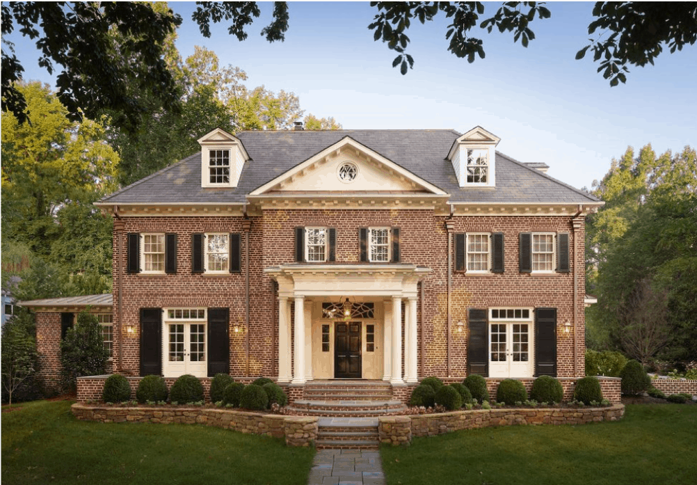 Best exterior paint colors for red brick homes, columns, colonial