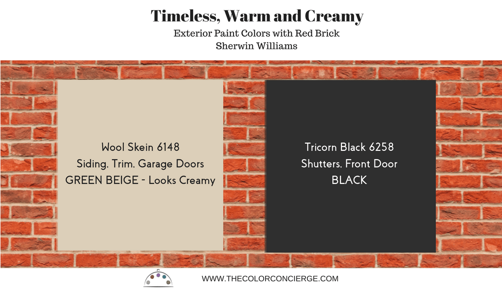 Best exterior paint colors red brick homes timeless paint colors, wool skein 6148, tricorn black 6258
