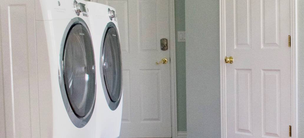 Quick & Easy Laundry Room Makeover with Paint Colors