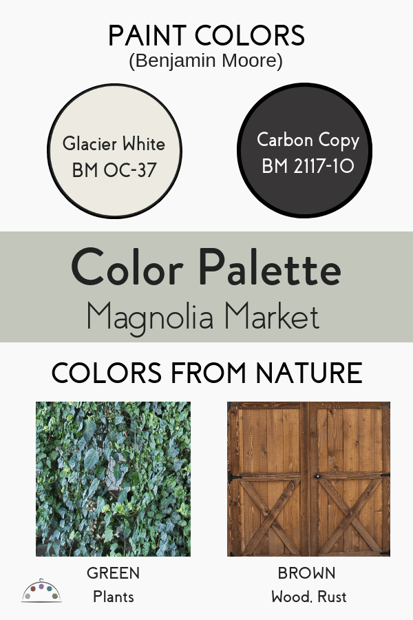 Color Palette for Magnolia Market at the Silos in Waco, TX