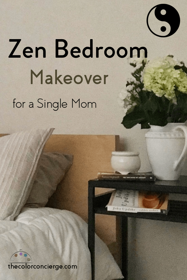 Zen bedroom makeover for a single mom