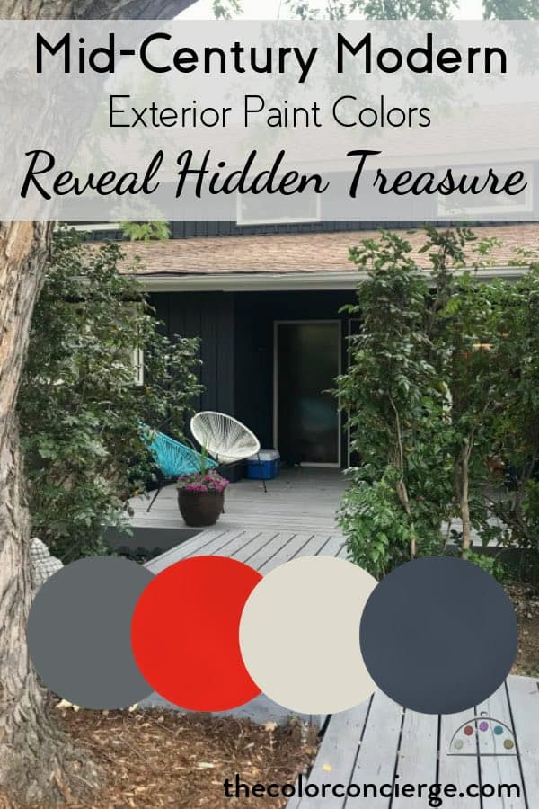 Mid Mod Exterior Paint Colors Reveal Hidden Treasure Color Concierge