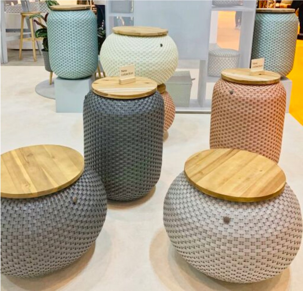 Baskets in different colors predict paint color trends