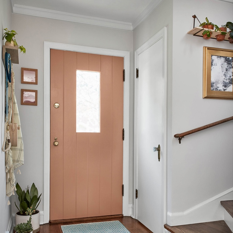 door painted with Valspar 2020 Palette of the Year color Canyon Earth