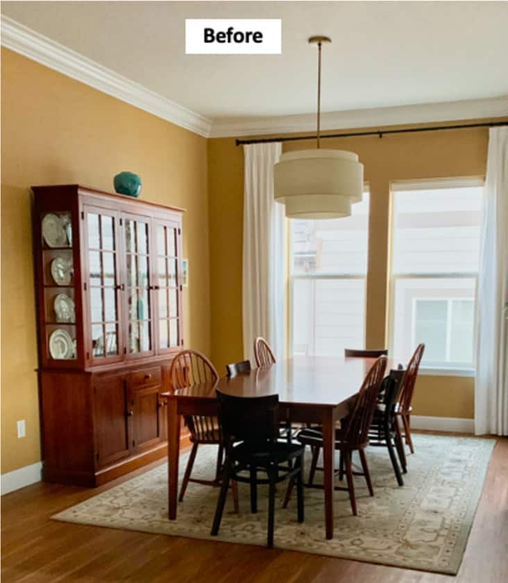 Dining Room with Benjamin Moore Decatur Buff paint color
