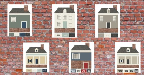 6 More Palettes for Red Brick Houses
