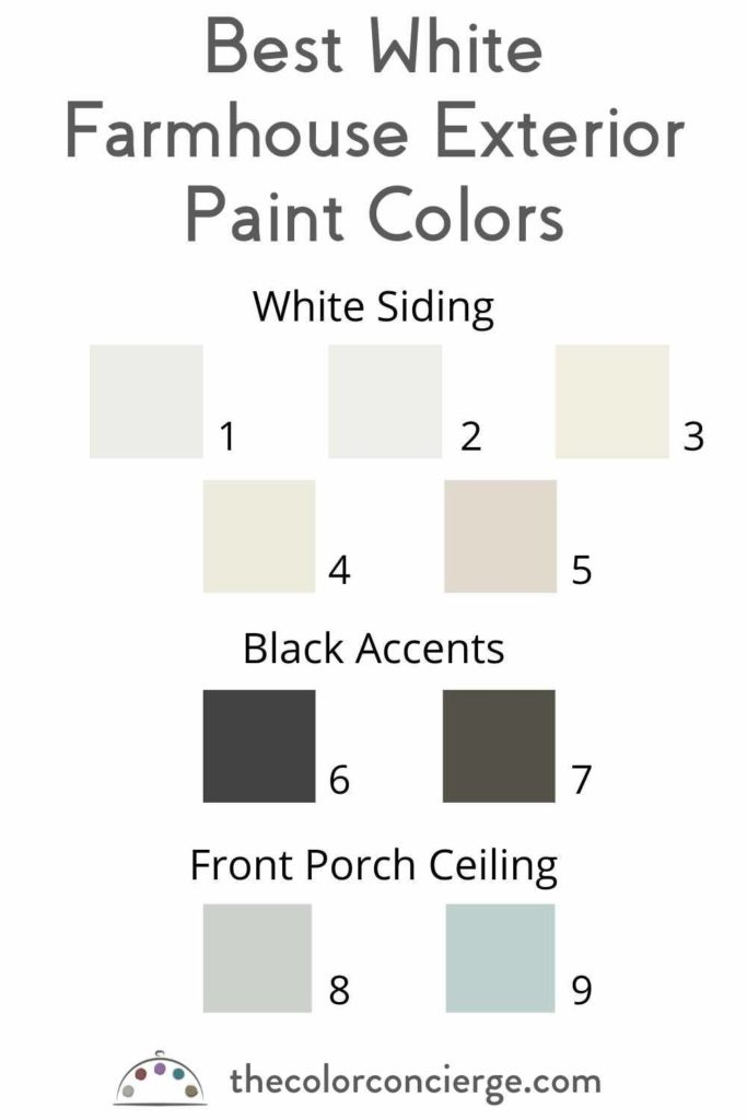 best white farmhouse exterior paint colors