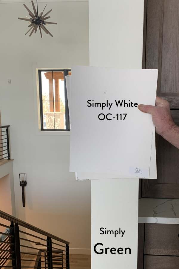 Simply White compared to paint matched walls