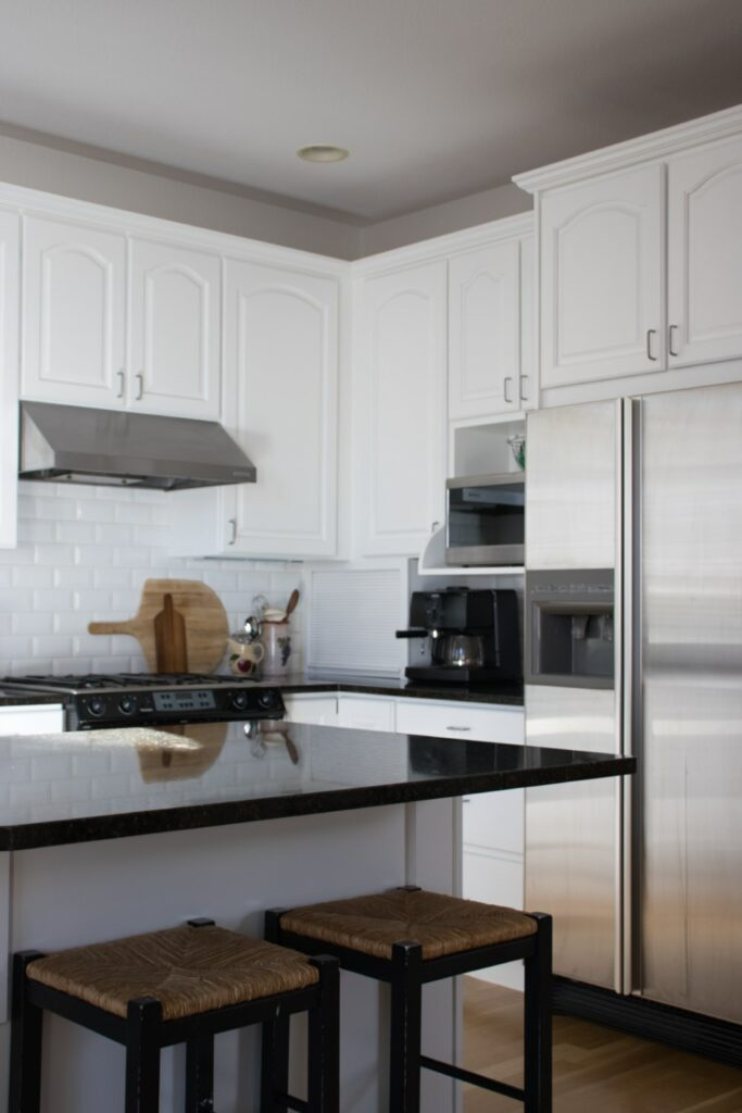 Simply White kitchen cabinets