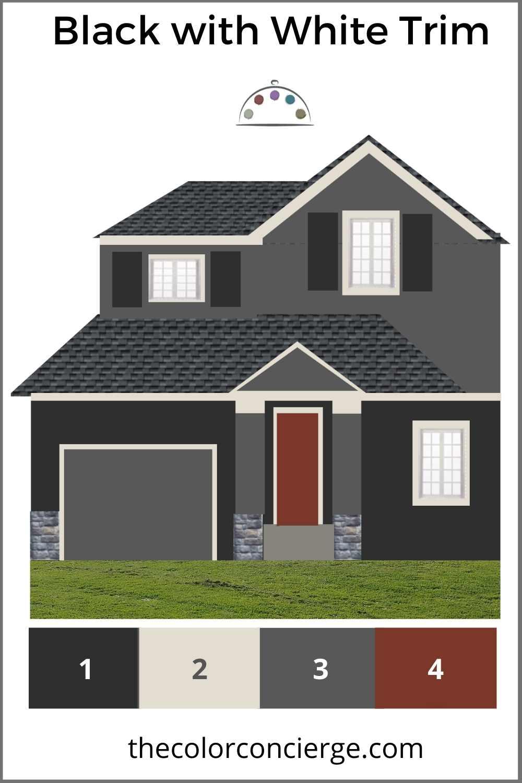 Black paint colors are part of trending exterior color schemes for 2021.