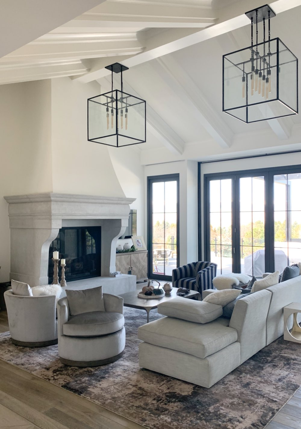 Living room painted with Cloud White