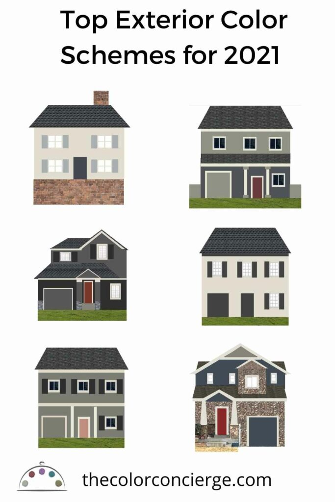 Trending exterior color schemes for 2021